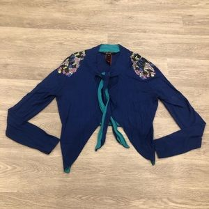 Paul Smith Black Label Cropped Beaded Cardigan Med